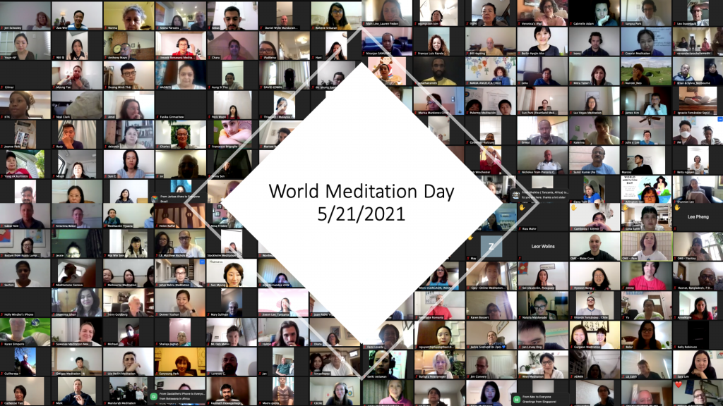 many people attended world meditation day