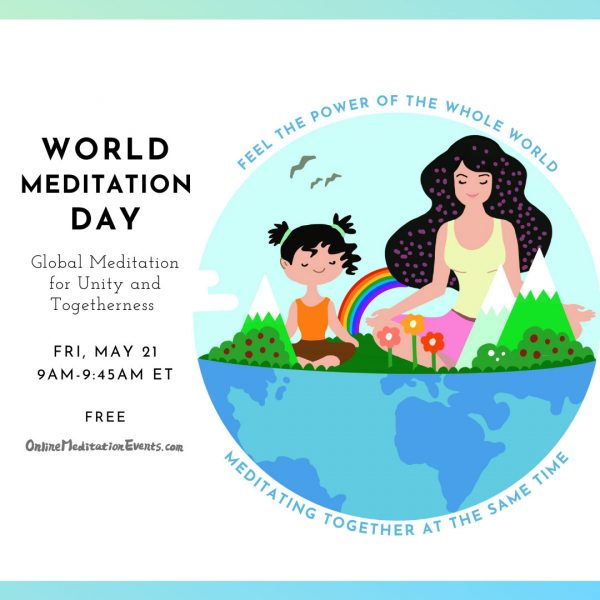a mother meditates with her daughter on earth